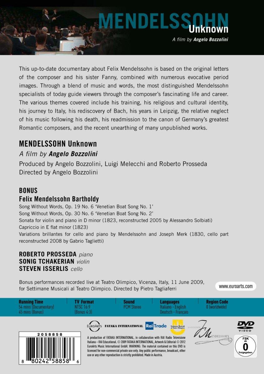 DVD Mendelssohn Back